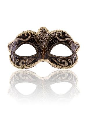Venetian carnival mask, isolated on white background