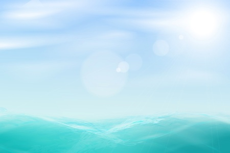 Illustration pour Abstract beautiful sea and sky background. - image libre de droit
