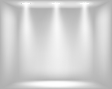 Abstract light grey background with spotlights illustration