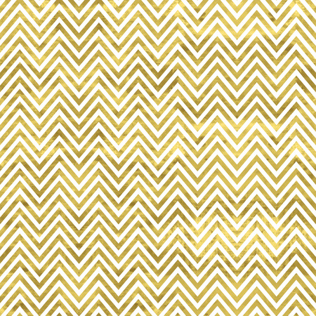 Ilustración de White and gold  pattern. Abstract geometric modern background. Vector illustration.Shiny backdrop. Texture of gold foil. Classic chevron wallpaper. - Imagen libre de derechos