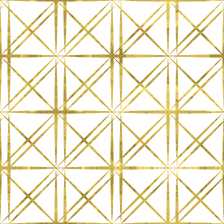 Illustration pour White and gold  pattern. Abstract geometric modern background. Easy editable vector illustration.Shiny backdrop. Texture of gold foil. Classic  wallpaper. - image libre de droit