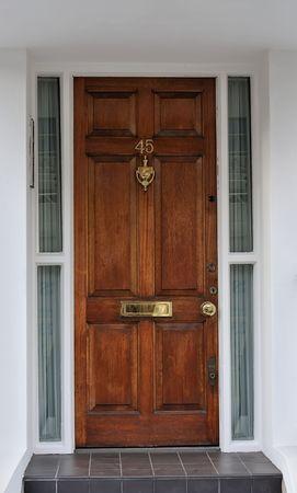 Luxury wooden door to appartment in London