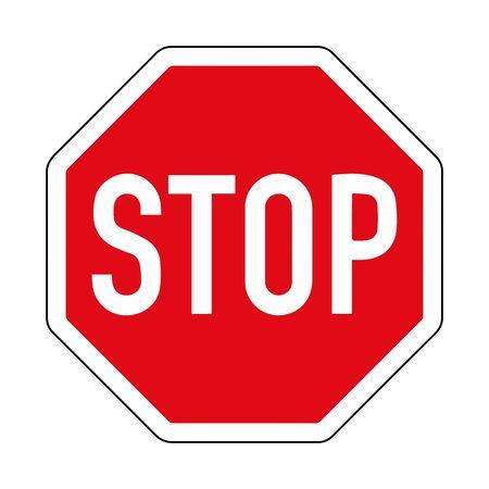 Illustration pour Provide an advantage. Stop. Road sign of Germany. Europe. Vector graphics. - image libre de droit