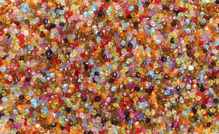 Backdrop with tiny colored glass seed beads