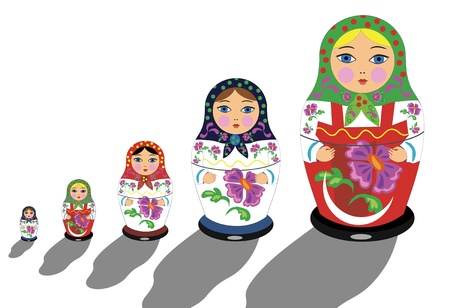 Illustration pour  Russian matrioshka - image libre de droit