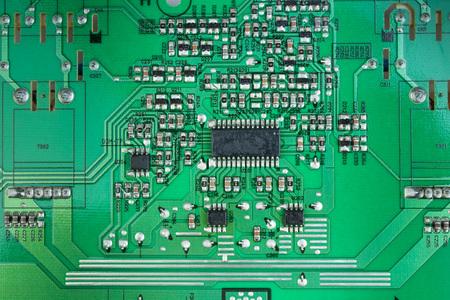Photo pour Macro shot of back side circuit board. Top view with copy space. - image libre de droit