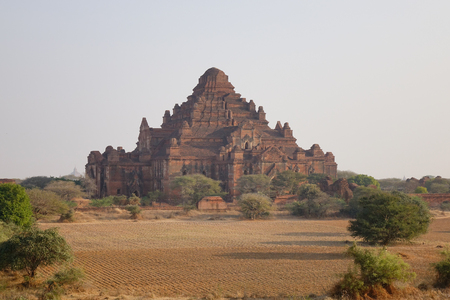 View of Dhammayangyi Temple in Bagan, Myanmar. It is the largest temple in Bagan.