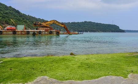 Kien Giang, Vietnam - Dec 12, 2017. Seascape of Tho Chau Island (Poulo Panjang) in Kien Giang, Vietnam. Tho Chau commune has about 500 households.