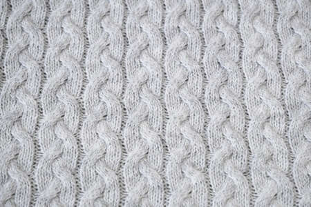 Photo pour Details of knitted woolen fabric. textile background. Woolen Texture Background, Knitted Wool Fabric, Hairy Fluffy Textile. Closeup - image libre de droit