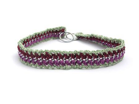 Handmade crocheted dog chain
