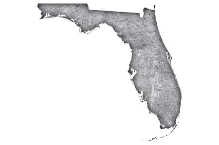 Photo pour Map of Florida on weathered concrete - image libre de droit