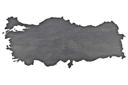 Photo pour Map of Turkey on dark slate - image libre de droit