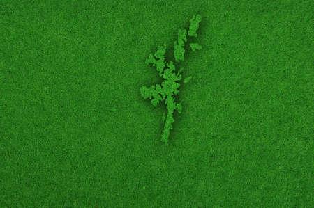 Foto de Map of Shetland Islands on green felt - Imagen libre de derechos