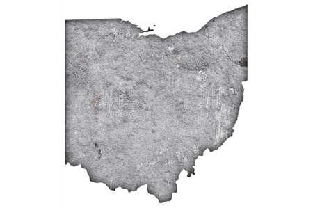 Photo pour Map of Ohio on weathered concrete - image libre de droit