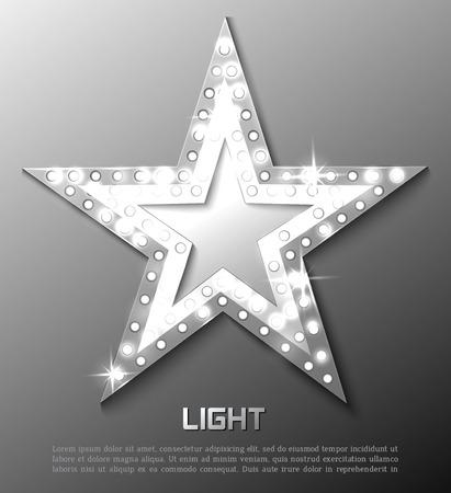 Illustration pour Star retro light banner. Vector illustration eps 10 - image libre de droit
