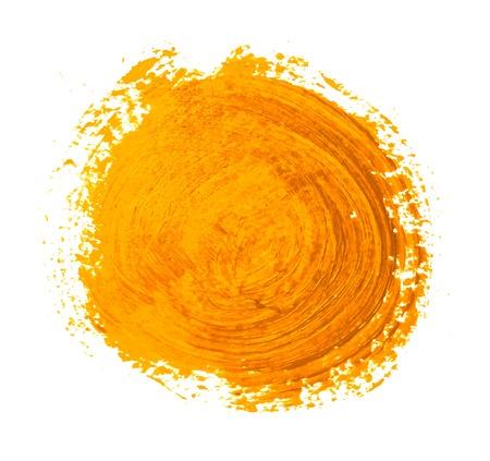 Illustration pour the yellow orange circle paint strokes vector - image libre de droit