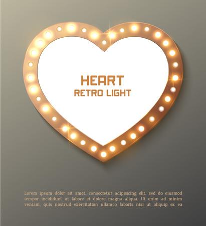 Illustration pour Star retro light banner - image libre de droit