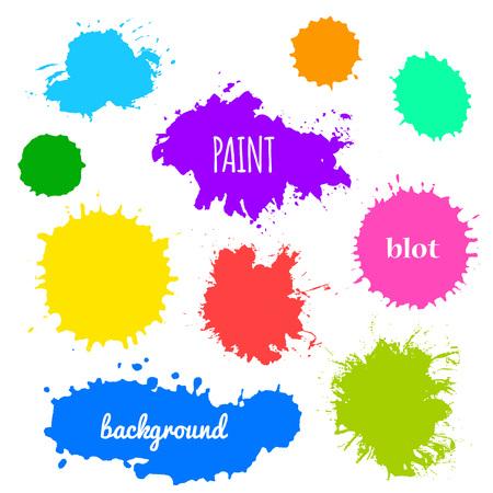 Ilustración de Collection of paint splash - Imagen libre de derechos