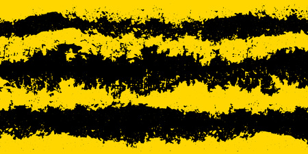 Illustration for Grunge attention background: yellow and black stripes for notice backdrop. Vector. - Royalty Free Image