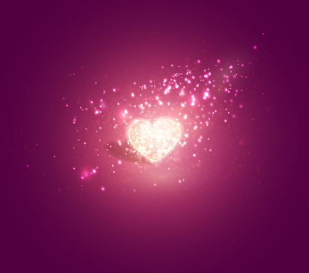 Illustration pour Shiny heart. Soft beautiful background for Valentines Day design vector. - image libre de droit