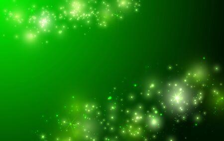 Ilustración de Shiny green background with sparkle and bokeh. Vector - Imagen libre de derechos