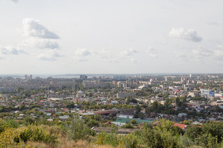 The view from the observation deck of the city of Saratov, Russia