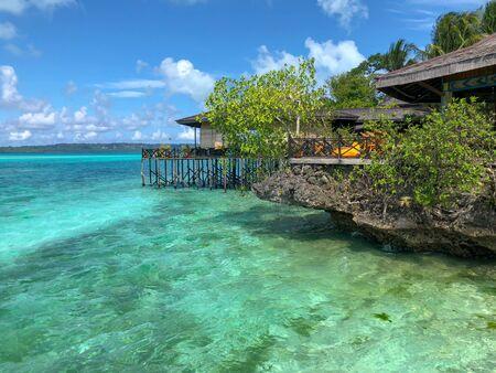 Foto de part of a luxury resort in maratua island, derawan archipelago - Imagen libre de derechos