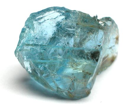 Aquamarine rough gemstone