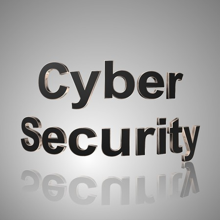 3d text for business and website design. With central word Cyber Security