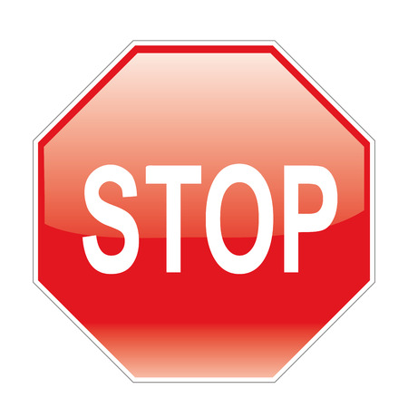 a red signal with a stop warning in it