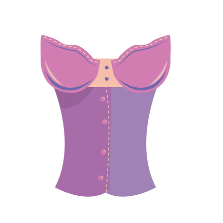 a purple sensual female underwear on a white background