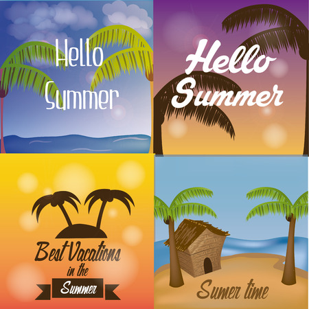 a set of colored backgrounds for this summer vacations