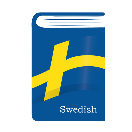Illustration pour Isolated dictionary with the swedish flag and text - image libre de droit