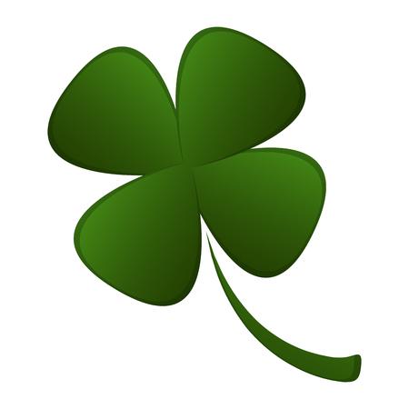 Illustration pour Four leaf clover for St. Patrick's day. Vector illustration design - image libre de droit