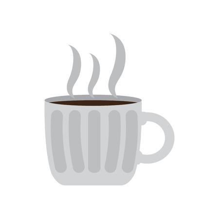Isolated coffee mug icon isolated on  plain background.