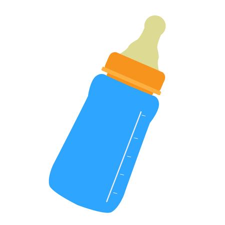 Illustration pour Isolated baby bottle icon. Vector illustration design - image libre de droit