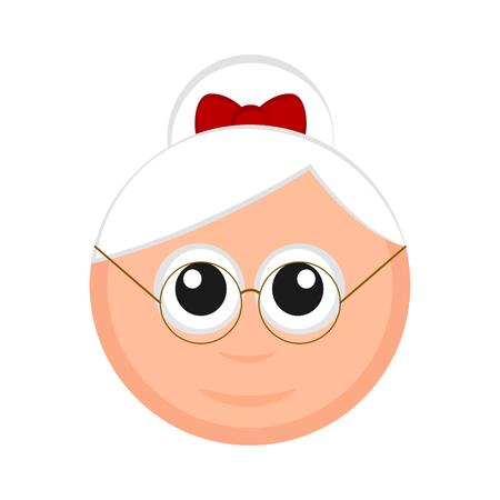 Christmas Mrs. Claus avatar. Vector illustration design