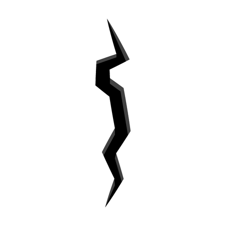 Isolated wall crack image. Vector illustration design