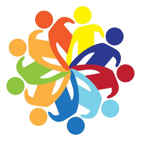 Illustration pour Isolated teamwork icon image. Vector illustration design - image libre de droit