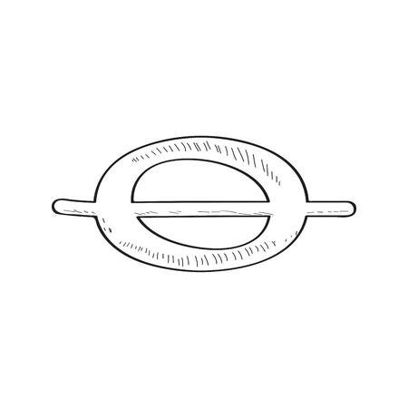 Ilustración de Isolated comic whole note sketch. Vector illustration design - Imagen libre de derechos