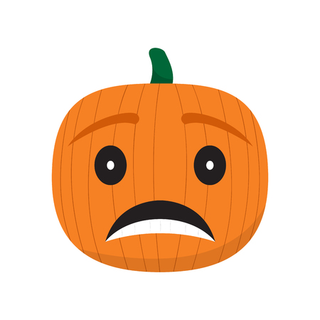 Sad pumpkin cartoon imag. Vector illustration design