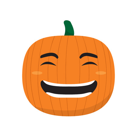Happy pumpkin cartoon imag. Vector illustration design