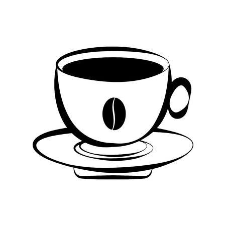 Illustration pour Isolated coffee cup icon. Vector illustration design - image libre de droit
