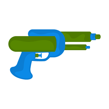 Isolated colored water gun toy for kids - Vector