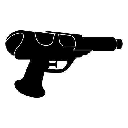 Isolated water gun toy for kids icon - Vector
