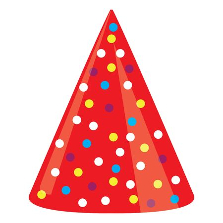 Illustration for Isolated party hat over a white background - Vector illustration - Royalty Free Image