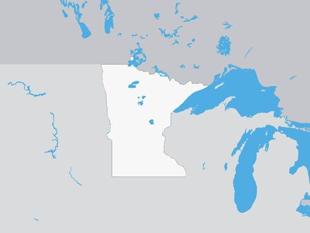 Map of the US Federal State of Minnesota:: tasmeemME.com