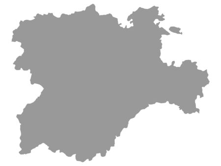 Illustration for Grey Map of the Spanish Autonomous Community of Castile and Leon - Royalty Free Image