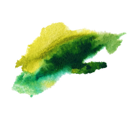 Abstract isolated watercolor stain wet vector texture
