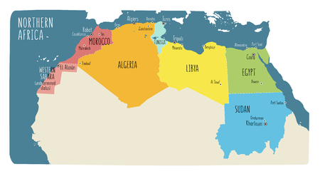 Map Of Morocco With Main Cities In Green Royalty Free